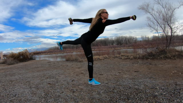outdoor fitness, sport, exercise with weights - human limb stock videos & royalty-free footage