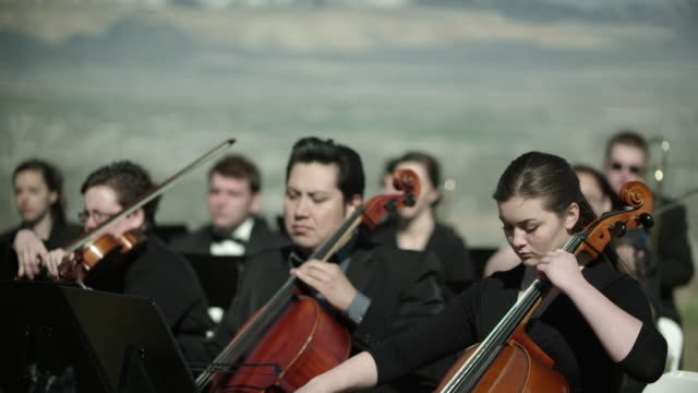 outdoor orchesta - strings - orchestra stock videos & royalty-free footage