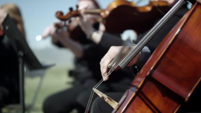 outdoor orchesta - strings - 交響楽団点の映像素材/bロール