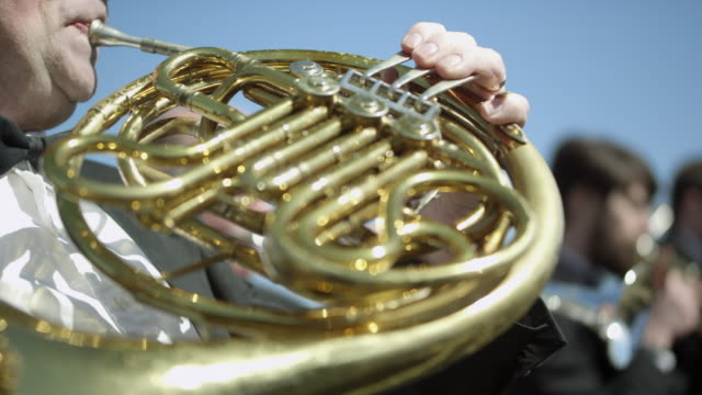 outdoor orchestra - brass instruments - orchestra stock videos & royalty-free footage