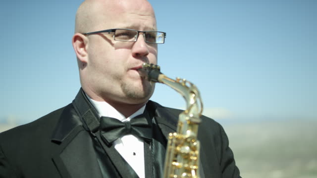 outdoor orchestra - saxophone - saxophone stock videos & royalty-free footage
