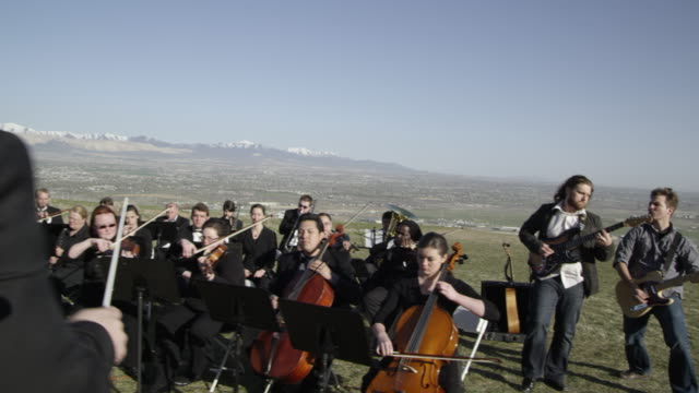 outdoor orchestra - orchestra stock videos & royalty-free footage