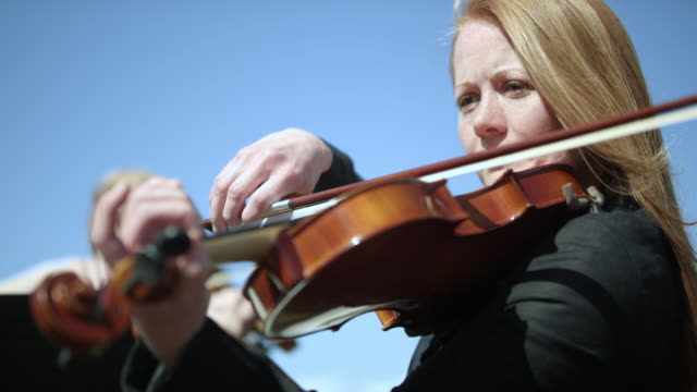 outdoor orchestra - violin - orchestra stock videos & royalty-free footage