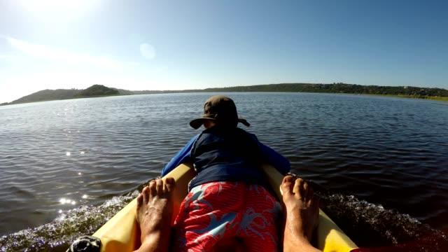outdoor paddling adventure - canoe stock videos & royalty-free footage