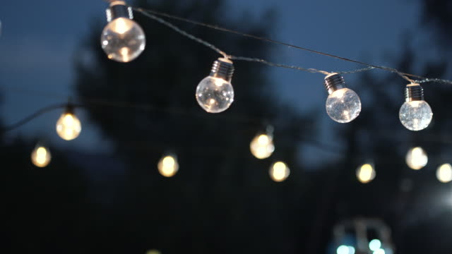 outdoor party lights - atmosphere filter stock videos & royalty-free footage