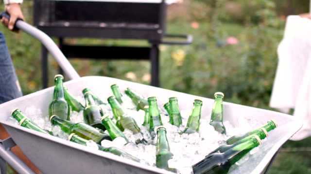 outdoor party - cooler container stock videos and b-roll footage