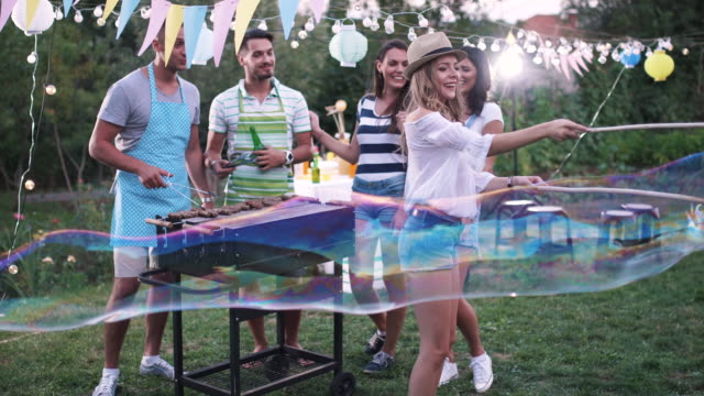 outdoor party - five people stock videos & royalty-free footage