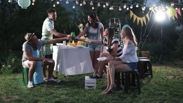 outdoor party - garden party stock videos & royalty-free footage