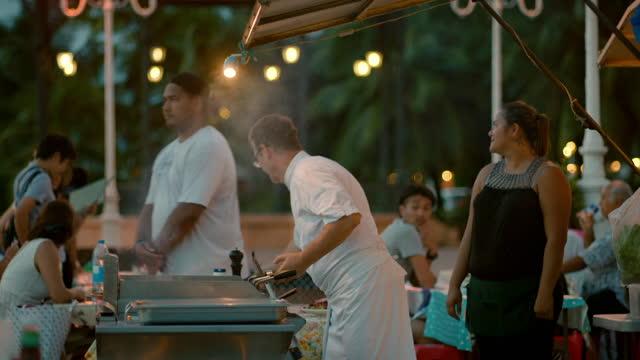 outdoor restaurants, tahiti, french polynesia - french polynesia stock videos & royalty-free footage