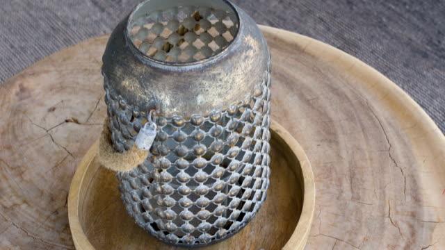 vídeos de stock e filmes b-roll de outdoor vase - home decor - objeto decorativo