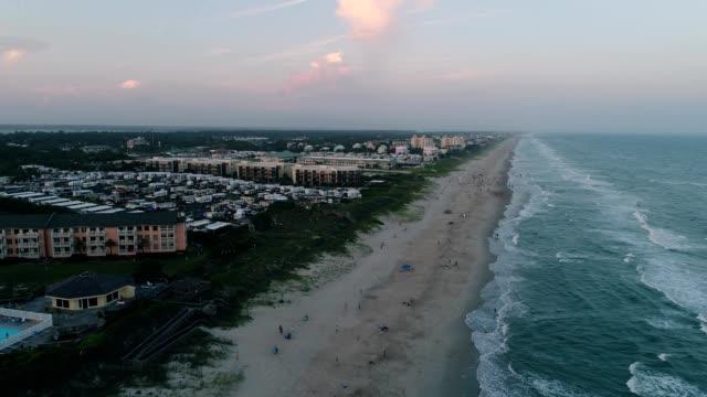 outer banks of emerald isle in north carolina - north carolina beach stock videos & royalty-free footage