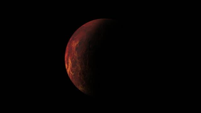 vidéos et rushes de outer space exploration with mars planet. 4k. - au loin