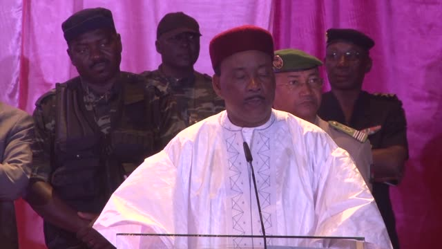 outgoing president of niger mahamadou issoufou says he hopes that the campaigns ahead of the first round of presidential elections on february 21... - mahamadou issoufou stock videos and b-roll footage
