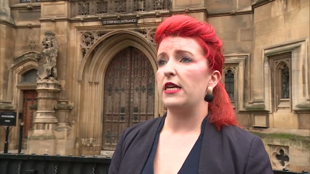 outrage after rapist encouraged to seek access to child he fathered: louise haigh interview; england: london: westminster: ext louise haigh mp... - victim stock videos & royalty-free footage