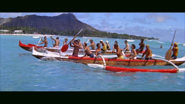 ms outriggers / honolulu, hawaii, united states - 1957年点の映像素材/bロール