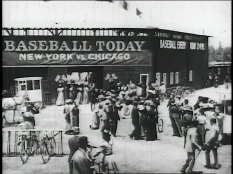 outside a baseball stadium / united states - 1913 stock-videos und b-roll-filmmaterial