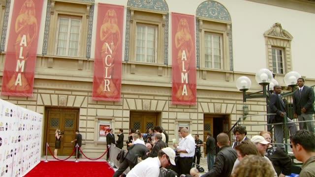 outside at the alma awards at pasadena civic auditorium in pasadena california on june 1 2007 - alma awards stock videos and b-roll footage