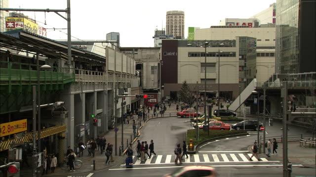 outside jr akihabara station - akihabara station stock videos and b-roll footage