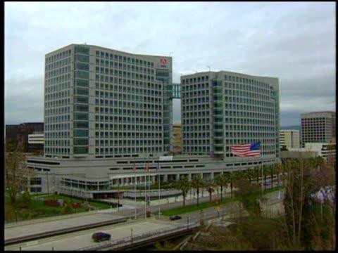 outside of adobe headquarter and employees working in the office. - adobe bildbanksvideor och videomaterial från bakom kulisserna
