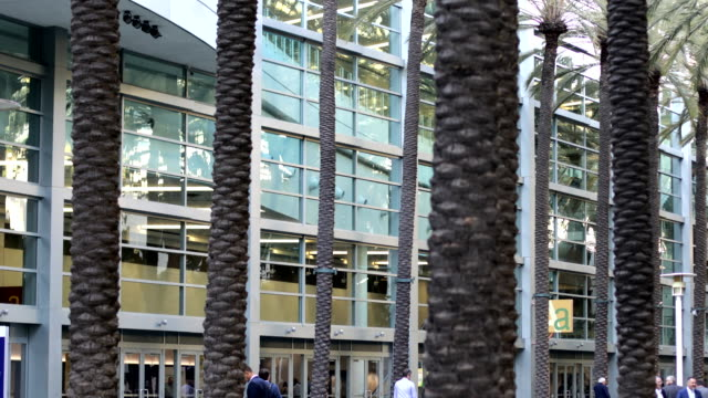 outside of the anaheim convention center - anaheim california stock videos & royalty-free footage