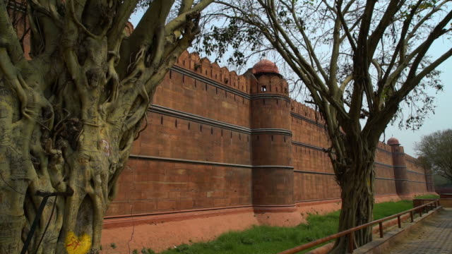 outside of the   red fort during the day. - mughal empire stock videos and b-roll footage