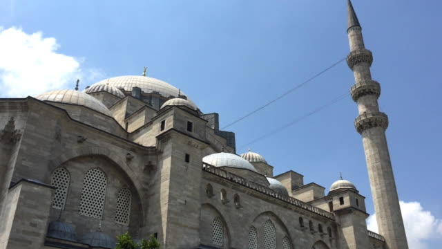 outside the süleymaniye mosque in istanbul, turkey - suleymaniye mosque stock videos and b-roll footage