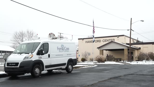 outside the vaccination center at the hansford senior center in st. albans, west virginia on february 12, 2021. familycare health centers organized a... - health and safety stock videos & royalty-free footage