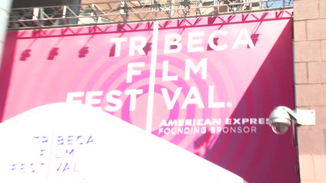 outside tribeca film festival at the 7th annual tribeca film festival i am because we are premiere at borough of manhattan community college /... - community college stock videos & royalty-free footage