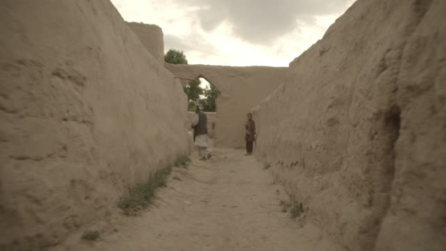 outskirt of herat, afghanistan, tracking shot of a child - 2014 stock videos & royalty-free footage