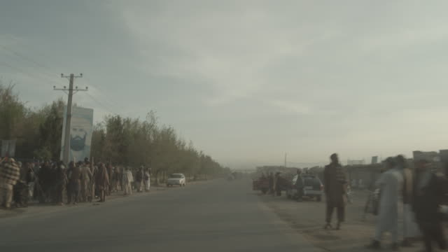 outskirt of herat, afghanistan, viewpoint from a moving vehicle - rural scene stock videos & royalty-free footage