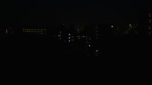 Outskirts of Tokyo at night. Japan.