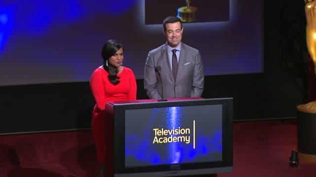 Outstanding Miniseries nominees announced by Carson Daly and Mindy Kaling 66th Primetime Emmy Awards Nominations Announcement at Leonard H Goldenson...