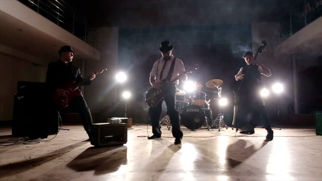 outstanding performance of young rock ensemble - punk music stock videos and b-roll footage