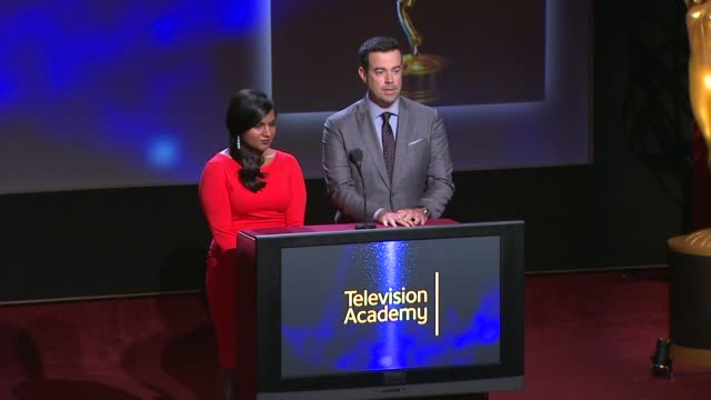 Outstanding Television Movie nominees announced by Carson Daly and Mindy Kaling 66th Primetime Emmy Awards Nominations Announcement at Leonard H...