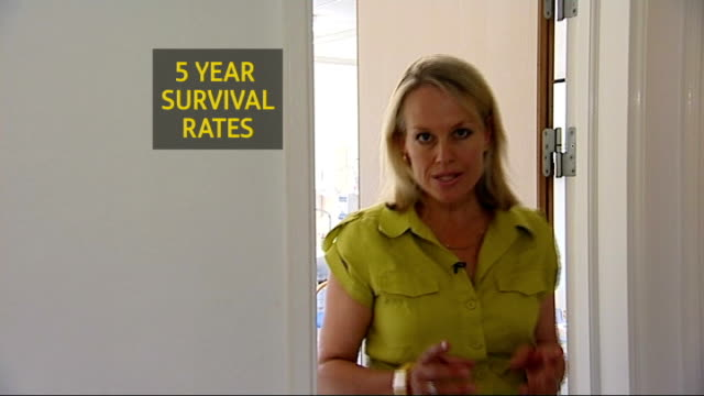vídeos de stock e filmes b-roll de woman launches campaign to improve diagnosis reporter to camera - ovário