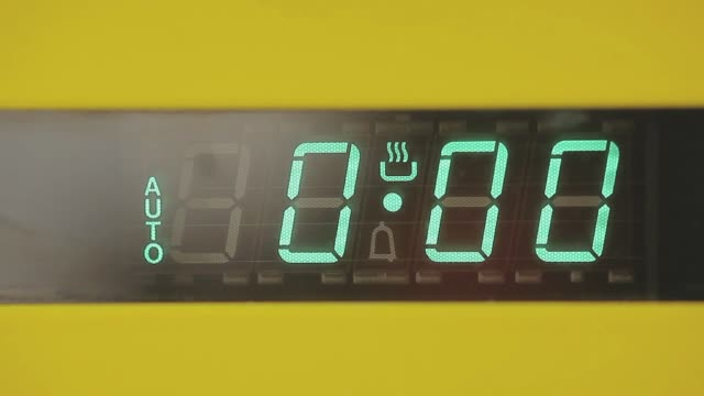 oven timer - appliance stock videos & royalty-free footage