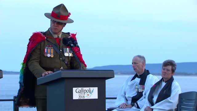 Over 1000 visitors from Australia and New Zealand attended a dawn service in Turkey's western Canakkale province Wednesday to commemorate the 103rd...