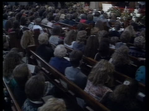 Over 1500 people attended White's funeral at the Second Presbyterian Church Attendees included Elton John football star Howie Long and Phil Donahue...