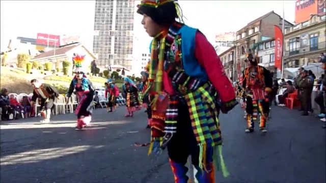 over 30000 dancers gave color and rhythm this saturday to the streets of la paz bolivias capital in a religious folk parade that began in the 1920s... - rhythm stock videos and b-roll footage