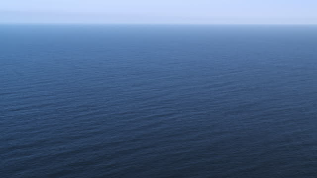 Over blue Pacific Ocean off the California coast. Shot in 2010.