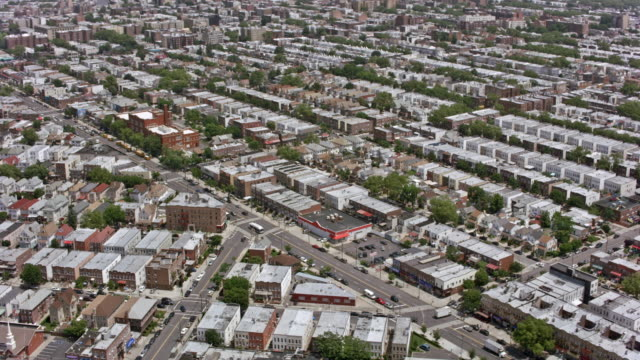AERIAL Over Brooklyn, NYC