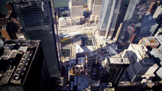 stockvideo's en b-roll-footage met over ground zero - aanslagen op 11 september 2001