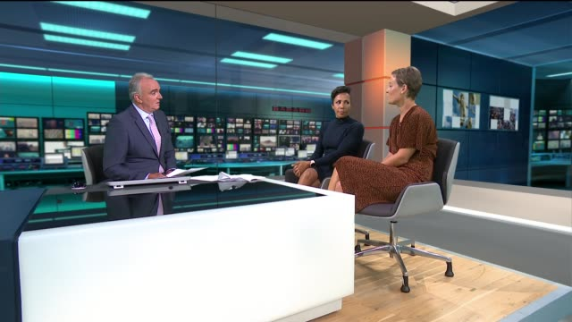 over half of people cannot name any symptom of blood cancer england london gir int dame kelly holmes and ruth naylor live studio interview sot - symptom stock videos and b-roll footage