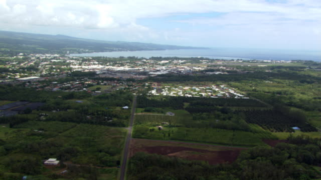 over hilo, hawaii - hilo stock videos & royalty-free footage