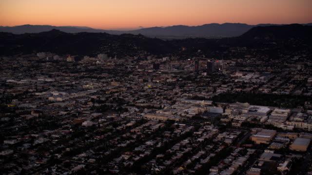 Over Los Angeles in evening light. Shot in October 2010.