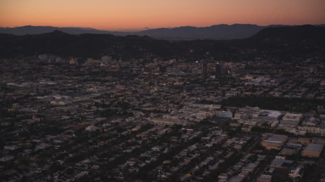 Over Los Angeles in evening light. Shot in October 2010.