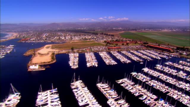 aerial over marina/ ventura, california  - ventura stock videos and b-roll footage