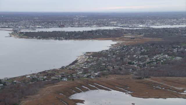 Over New Bedford, Massachusetts. Shot in November 2011.