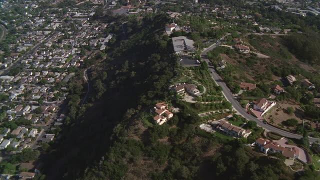 aerial over residential area toward ocean and marina / santa barbara, california - サンタバーバラ点の映像素材/bロール