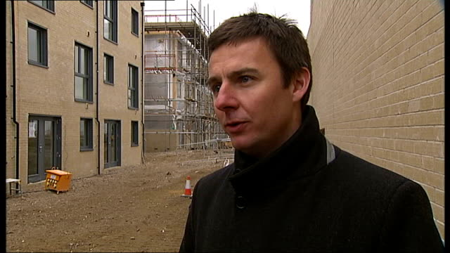 Over six million homes in fuel poverty EXT Alan Shingler interview SOT Bedroom in new energy efficient house PAN Bathroom in house EXT Large swinging...